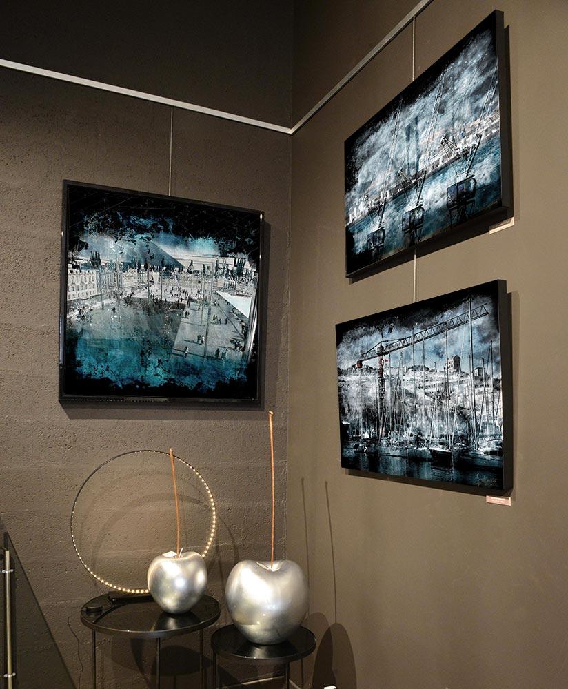 Art contemporain tableau in situ